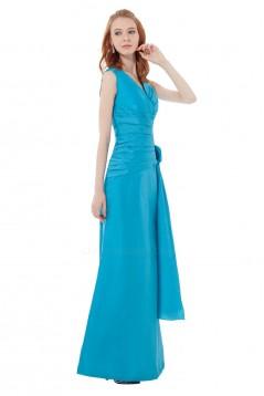 A-Line V-Neck Long Bridesmaid Dresses/Wedding Party Dresses BD010120
