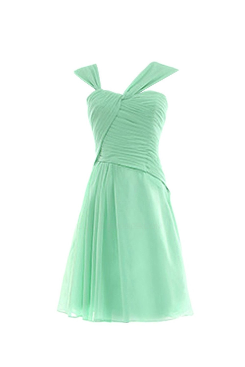 Short/Mini Mint Green Chiffon Bridesmaid Dresses/Wedding Party ...
