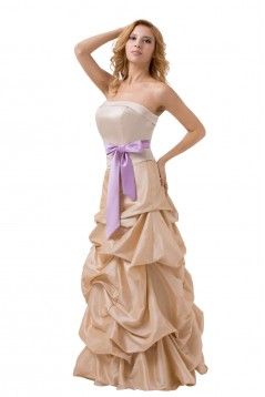 Ball Gown Strapless Long Bridesmaid Dresses/Wedding Party Dresses BD010140