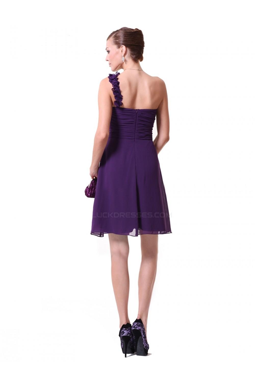 Line one shoulder short purple chiffon bridesmaid dresseswedding a line one shoulder short purple chiffon bridesmaid dresseswedding party dresses bd010220 ombrellifo Image collections