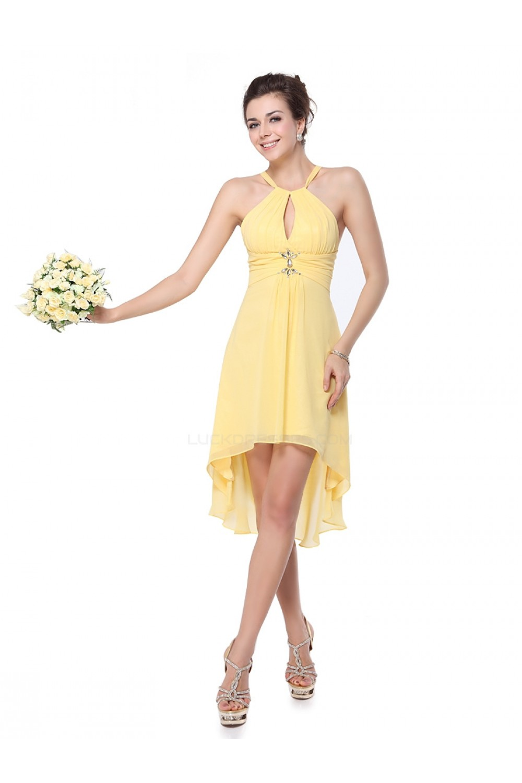 Low beaded yellow chiffon bridesmaid dresseswedding party dresses high low beaded yellow chiffon bridesmaid dresseswedding party dresses bd010230 ombrellifo Image collections