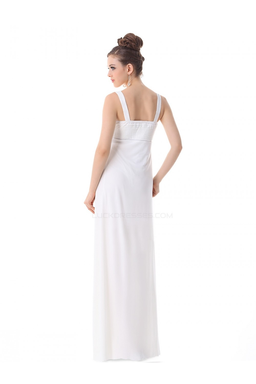 395a064a4cfbd Empire Long White Chiffon Bridesmaid Dresses/Wedding Party Dresses/Maternity  Evening Dresses BD010258