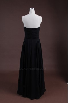 Sheath/Column Sweetheart Long Black Chiffon Bridesmaid Dresses/Wedding Party Dresses BD010320