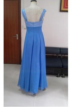 A-Line Long Blue Bridesmaid Dresses/Wedding Party Dresses BD010333