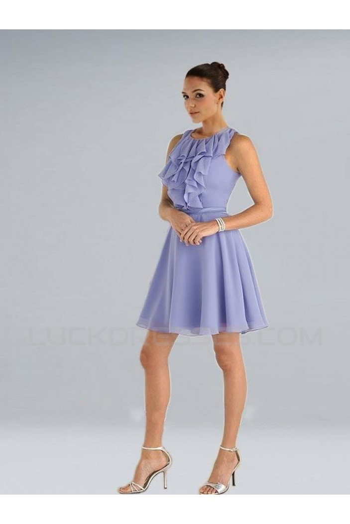 A-Line Short Chiffon Bridesmaid Dresses/Wedding Party Dresses BD010355