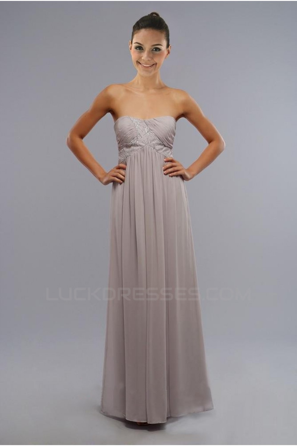 Strapless Floor-Length Bridesmaid Dresses/Wedding Party Dresses ...