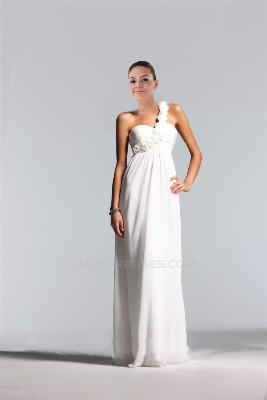 49e10423a06 Empire One-Shoulder Floor-Length Chiffon Bridesmaid Dresses ...