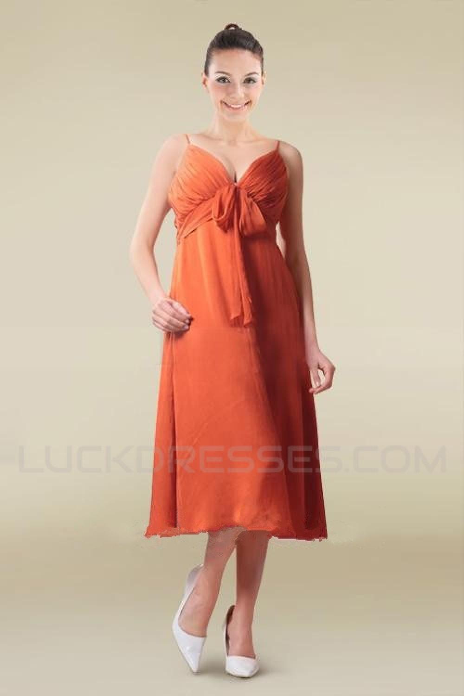 Spaghetti Strap Short Chiffon Bridesmaid Dresses/Wedding Party ...
