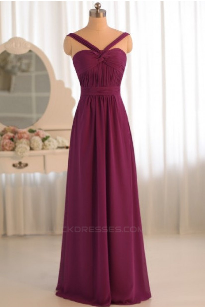 A-Line Chiffon Floor-Length Bridesmaid Dresses/Wedding Party Dresses BD010499