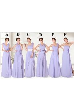 A-Line Long Chiffon Bridesmaid Dresses/Evening Dresses BD010550