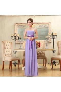 A-Line Strapless Long Purple Chiffon Bridesmaid Dresses/Evening Dresses BD010571