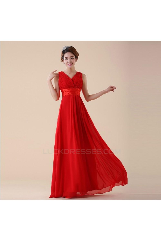 Line v neck long red chiffon bridesmaid dressesevening dresses a line v neck long red chiffon bridesmaid dressesevening dresses bd010588 ombrellifo Images