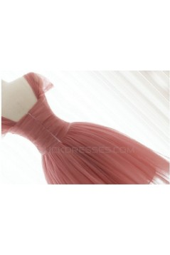 A-Line Short Tulle Bridesmaid Dresses/Evening Dresses BD010636