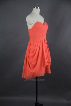 Short Sweetheart Chiffon Bridesmaid Dresses/Wedding Party Dresses BD010714