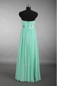 A-Line Sweetheart Long Green Chiffon Bridesmaid Dresses/Wedding Party Dresses BD010717