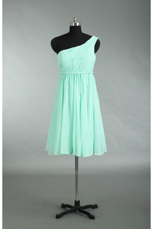 Empire One-Shoulder Chiffon Bridesmaid Dresses/Wedding Party Dresses ...