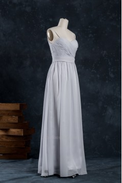 A-Line Spaghetti Strap Long Chiffon Bridesmaid Dresses/Wedding Party Dresses BD010743