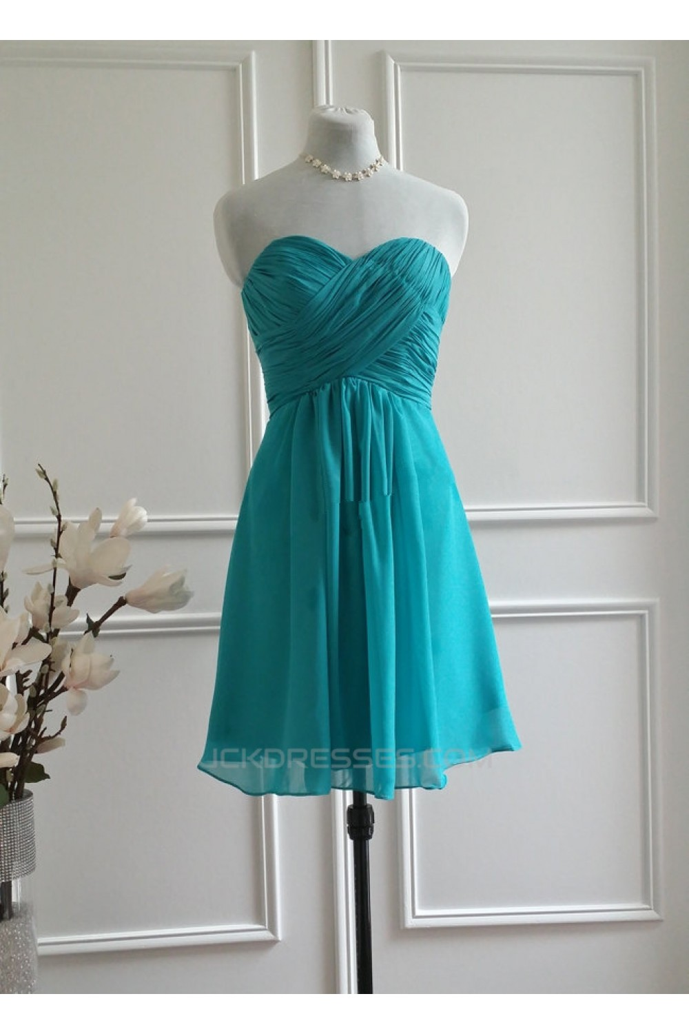Line Sweetheart Short Chiffon Bridesmaid Dresses/Wedding Party ...