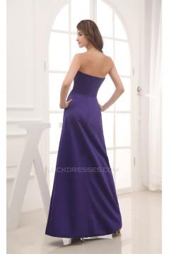 Elegant Handmade Flowers Satin A-Line Sweetheart Bridesmaid Dresses 02010025