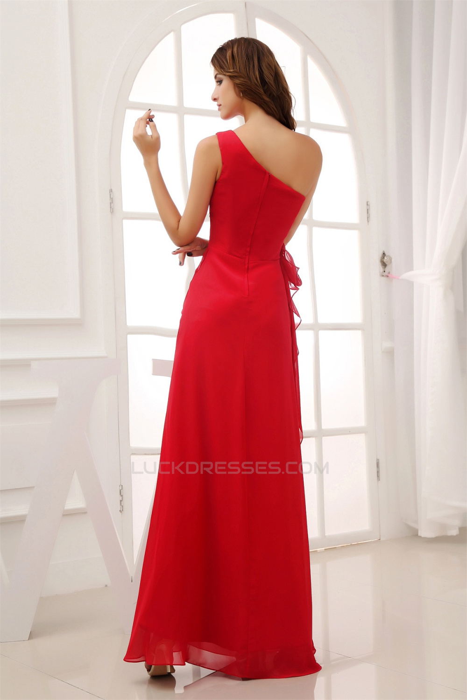 5b1021e8cc34 One-Shoulder Sheath/Column Sleeveless Ruffles Chiffon Long Bridesmaid  Dresses 02010066