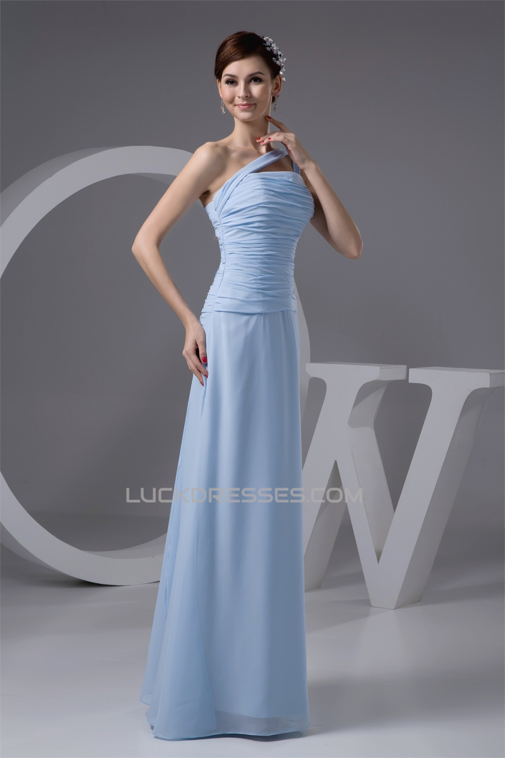 One shoulder chiffon long bridesmaid dresses 02010113 sleeveless one shoulder chiffon long bridesmaid dresses 02010113 ombrellifo Choice Image