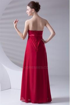 21d44fae0e8 Criss Cross Chiffon Empire Strapless Maternity Long Red Maternity  Bridesmaid Dresses 02010151