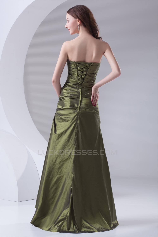 Navy Blue Color Code >> Sleeveless Sweetheart A-Line Taffeta Bows Long Bridesmaid ...