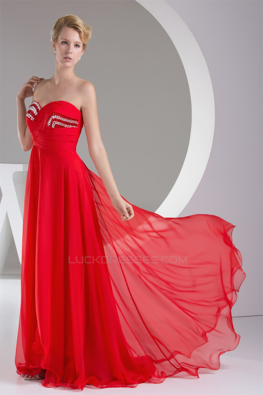 Line sweetheart beaded long red chiffon bridesmaid dresses 02010220 a line sweetheart beaded long red chiffon bridesmaid dresses 02010220 ombrellifo Image collections