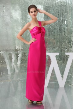 Sleeveless Sheath/Column Draped One-Shoulder Bridesmaid Dresses 02010228