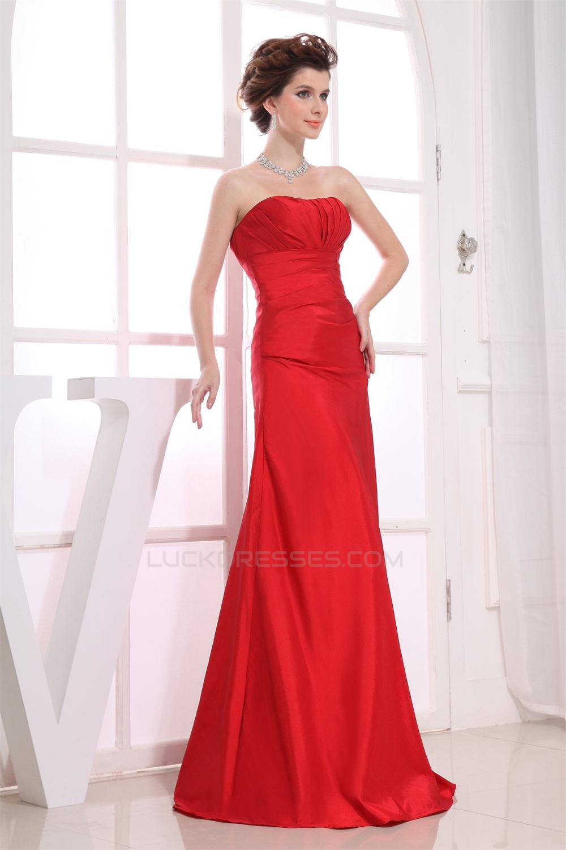 Line strapless taffeta sleeveless pleats soft long red bridesmaid a line strapless taffeta sleeveless pleats soft long red bridesmaid dresses 02010245 ombrellifo Choice Image