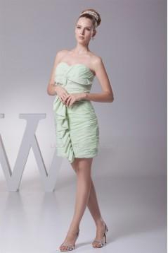 Criss Cross Soft Sweetheart Chiffon Short/Mini Bridesmaid Dresses 02010281