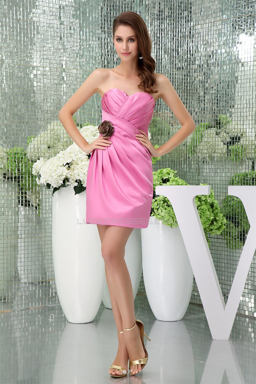 Satin criss cross shortmini pink sweetheart bridesmaid dresses elegant satin criss cross shortmini pink sweetheart bridesmaid dresses 02010288 ombrellifo Images