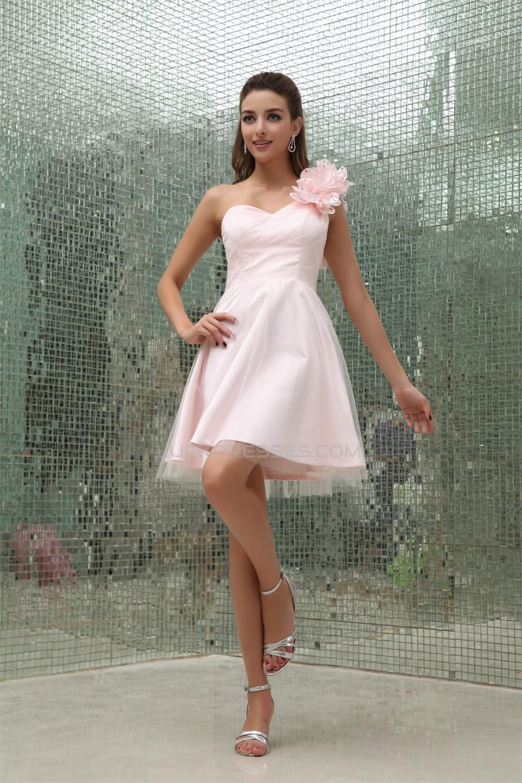 Line shortmini sleeveless one shoulder short pink bridesmaid a line shortmini sleeveless one shoulder short pink bridesmaid dresses 02010312 ombrellifo Images