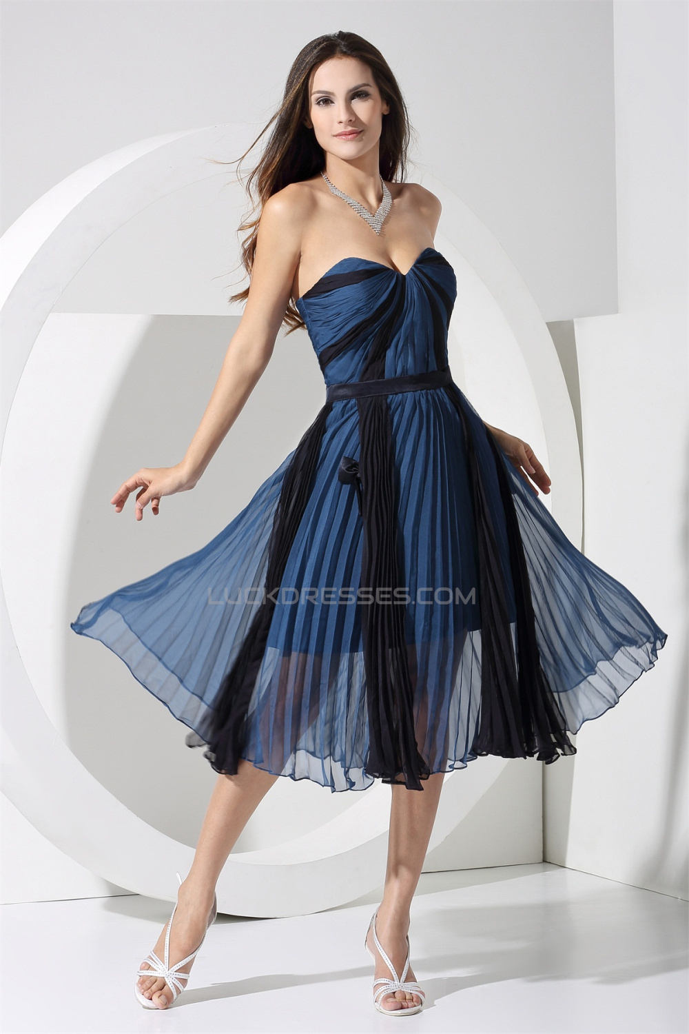 A Lien Pleated Chiffon Best Short Bridesmaid Dresses 02010320