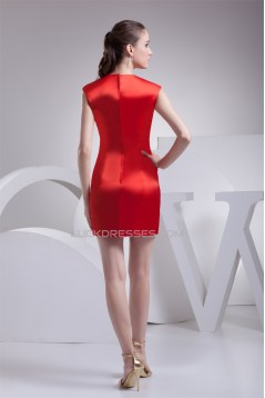 Silk like Satin Sheath/Column Sleeveless Bridesmaid Dresses 02010362