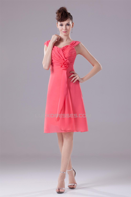 22a485740b63b Sweetheart Chiffon Knee-Length Short Bridesmaid Dresses 02010380