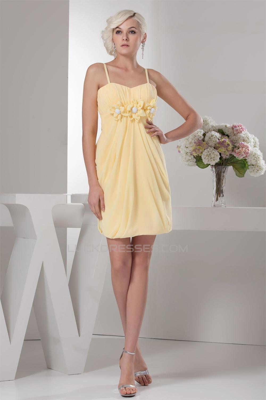 Short Yellow Bridesmaid Dresses