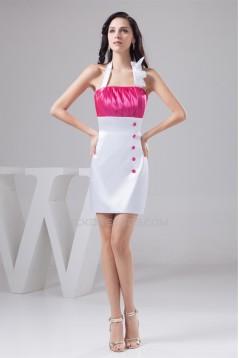Short/Mini Sheath/Column Halter Sleeveless Short Bridesmaid Dresses 02010428