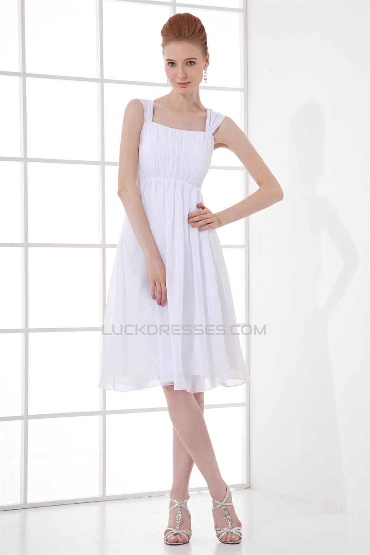 illusion sleeves straps pleats chiffon short white bridesmaid dresses 02010488. Black Bedroom Furniture Sets. Home Design Ideas