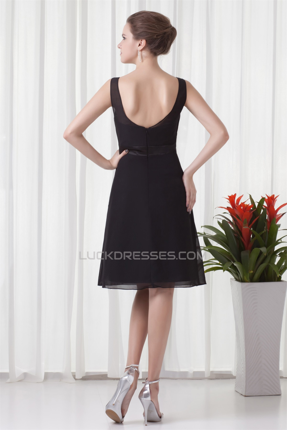 short black wedding dresses black chiffon bridesmaid dresses 02010550 7344