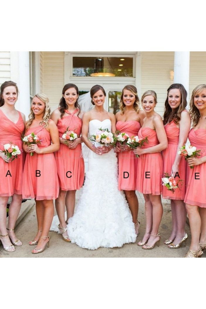 Short Chiffon Wedding Guest Dresses Bridesmaid Dresses 3010122