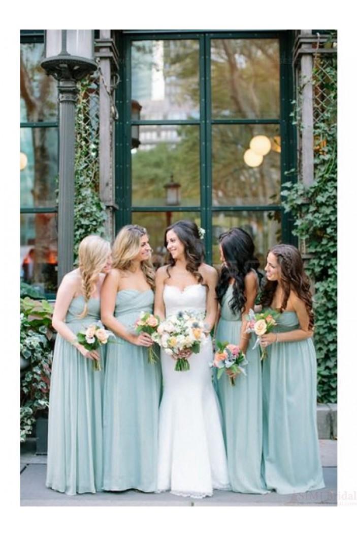 Floor-Length Sweetheart Chiffon Wedding Guest Dresses Bridesmaid Dresses 3010130