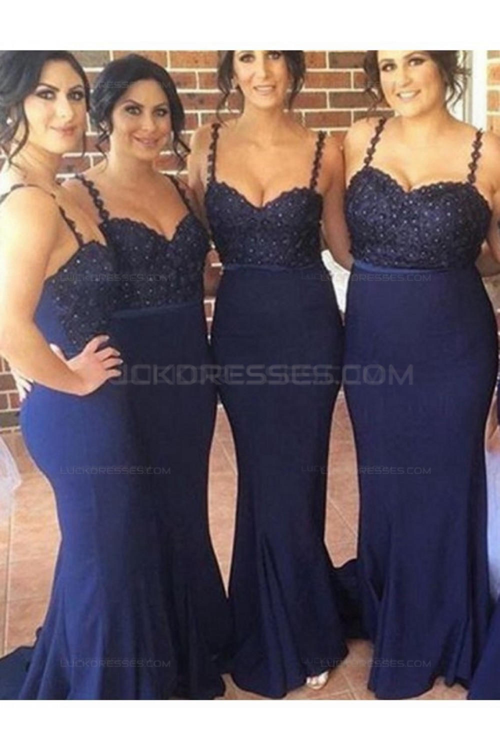 spaghetti straps navy wedding guest dresses bridesmaid