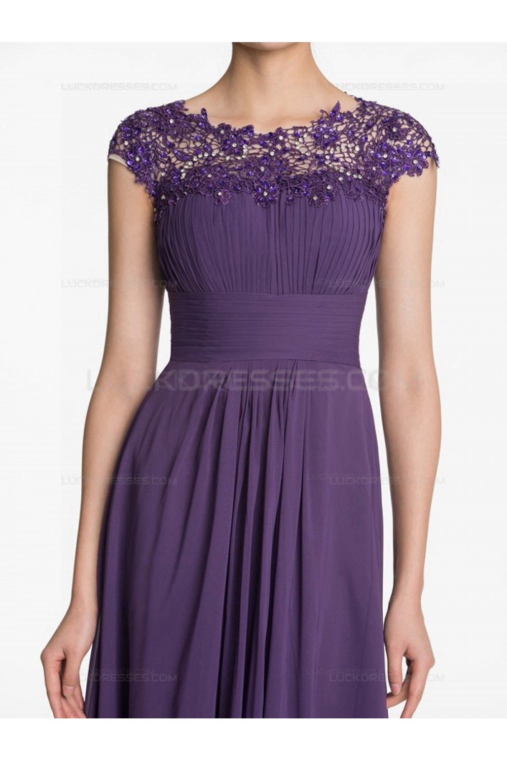 long purple lace chiffon wedding guest dresses bridesmaid