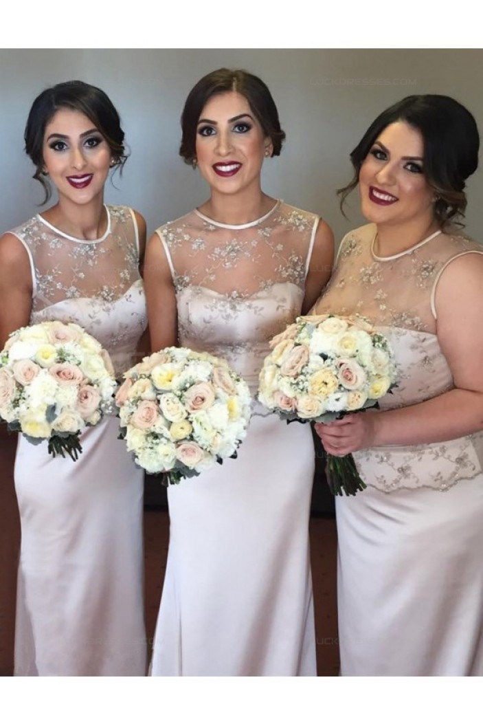 Mermaid Illusion Neckline Long Wedding Guest Dresses Bridesmaid Dresses 3010214