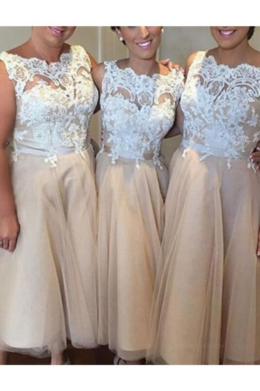 A-Line Lace Long Plus Size Wedding Guest Dresses Bridesmaid ...