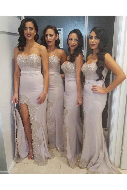 8f81b2d759c Mermaid Sweetheart Beaded Lace Wedding Guest Dresses ...