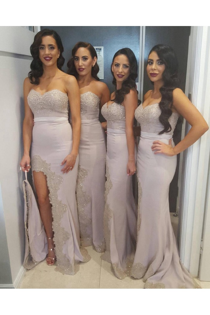 Mermaid Sweetheart Beaded Lace Wedding Guest Dresses Bridesmaid Dresses 3010259