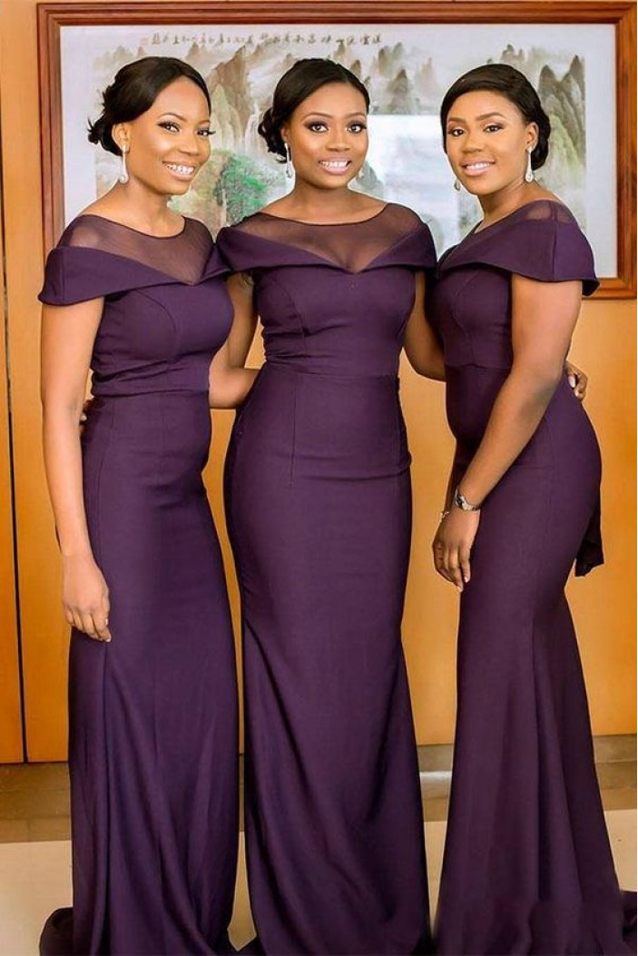 Elegant Mermaid Long Bridesmaid Dresses 3010295