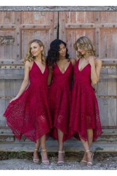 A-Line Spaghetti Straps V-Neck Bridesmaid Dresses 3010311